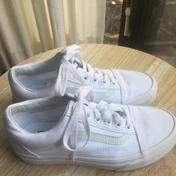 white old skool vans size 5